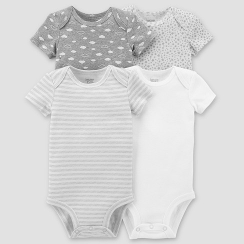 901b4c7f5 Baby 4pk Bodysuit Set - Just One You Made by Carter's Gray. Buy on Target