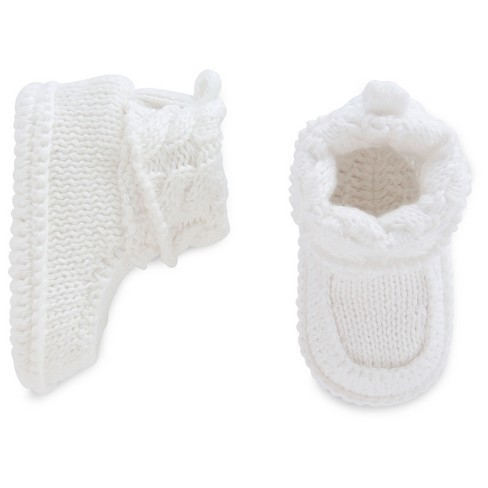 4cf9d84fc Baby White Knit Booties - Just One You Made by Carter's NB   Giftibly