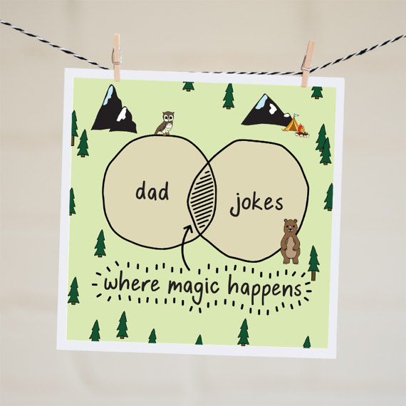Dad Jokes Card Funny Fathers Day Card Funny Card For Dad