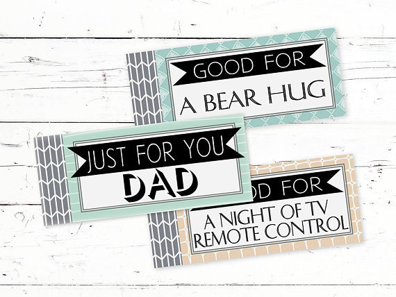 Coupon Book For Dads Printable Fathers Day Coupons Gift From